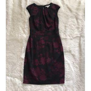 White House Black Market Black and Purple Dress